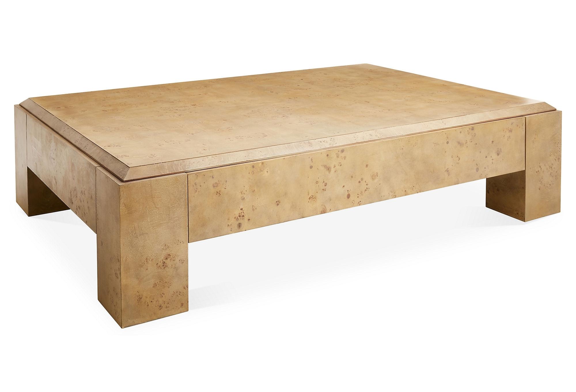 Lovely Burled Wood Coffee Table - Sarjaopas | Sarjaopas for Joni Brass and Wood Coffee Tables (Image 21 of 30)