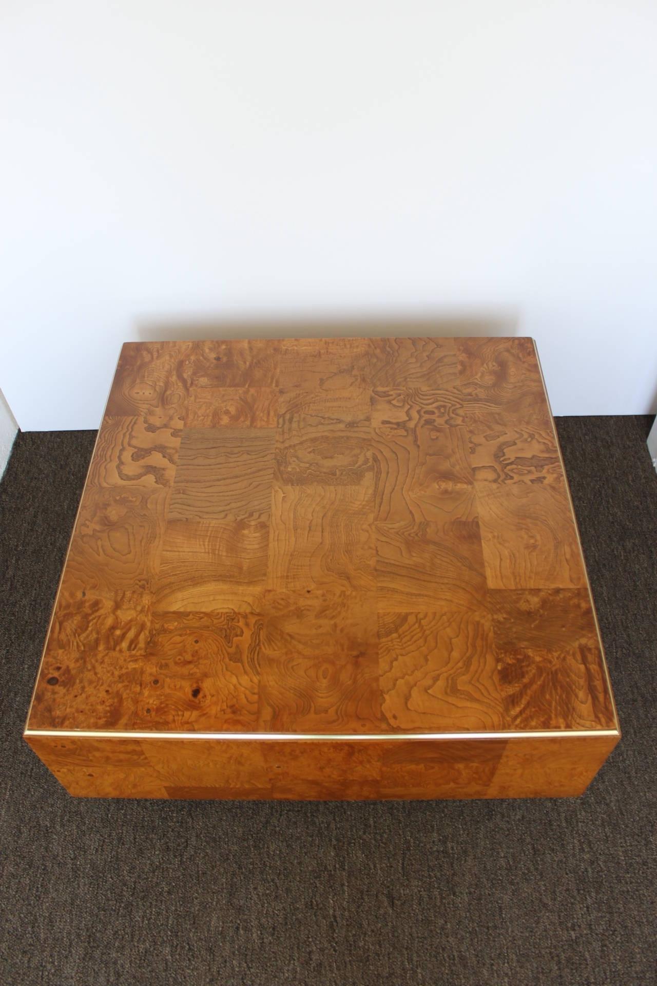 Lovely Burled Wood Coffee Table - Sarjaopas | Sarjaopas in Joni Brass And Wood Coffee Tables (Image 22 of 30)