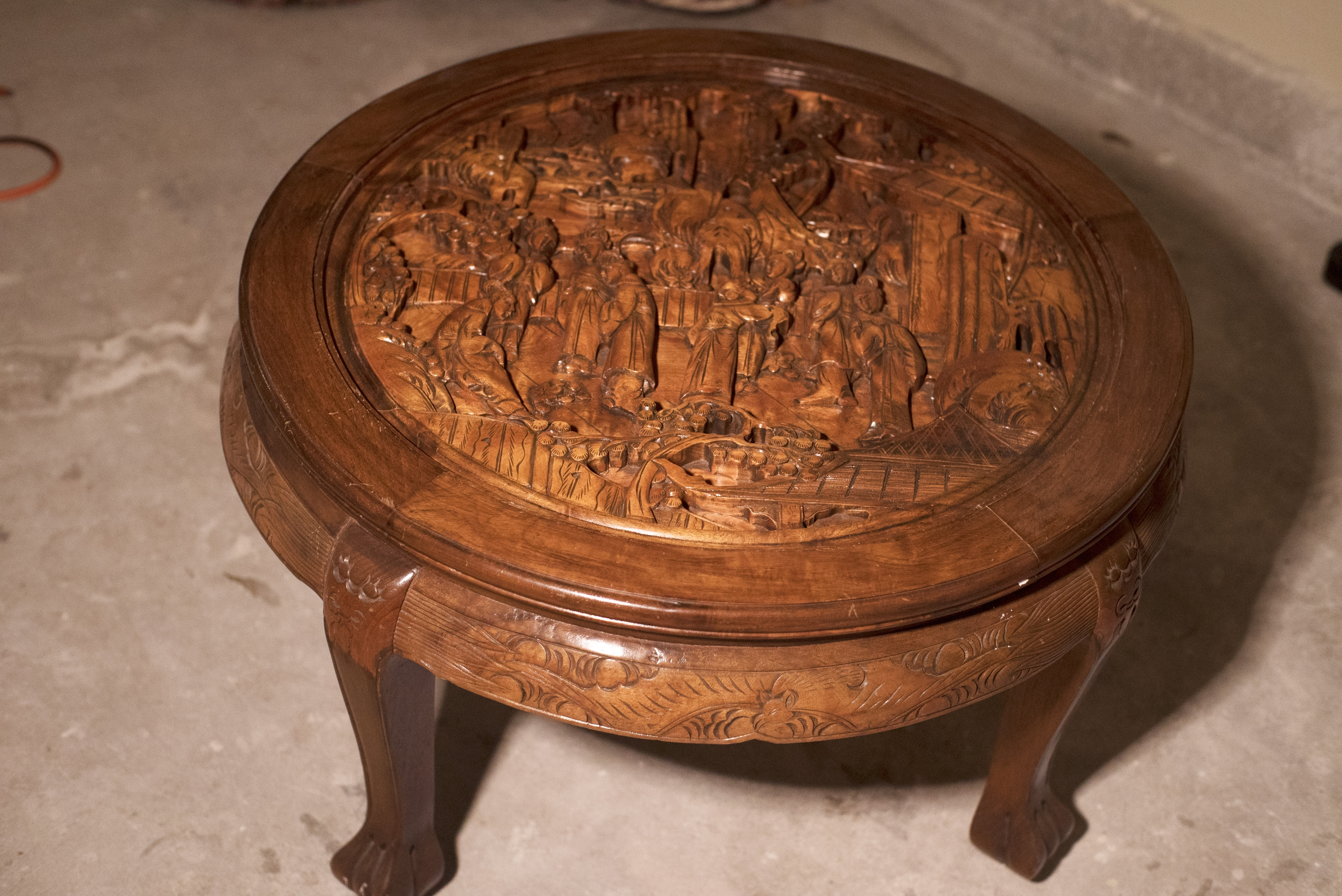 Lovely Carved Coffee Table With Carved Wood Coffee Table Coffee with Round Carved Wood Coffee Tables (Image 13 of 30)