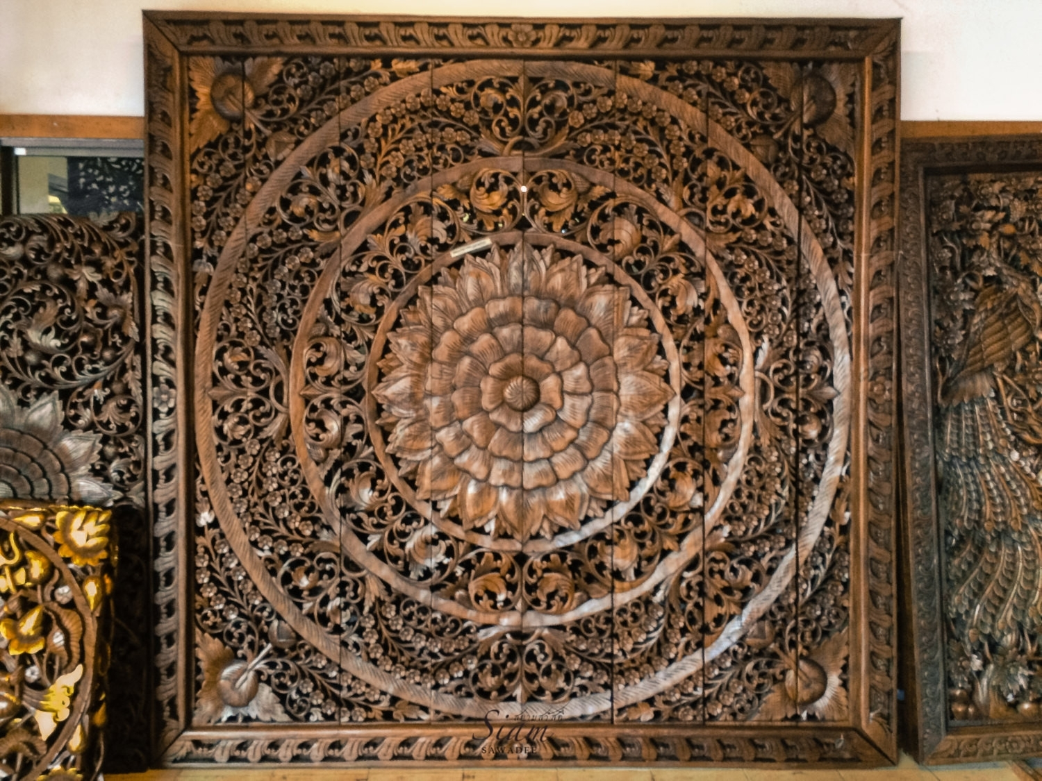 Lovely Large Carved Wood Wall Art - Kunuzmetals within Carved Wood Wall Art (Image 14 of 20)
