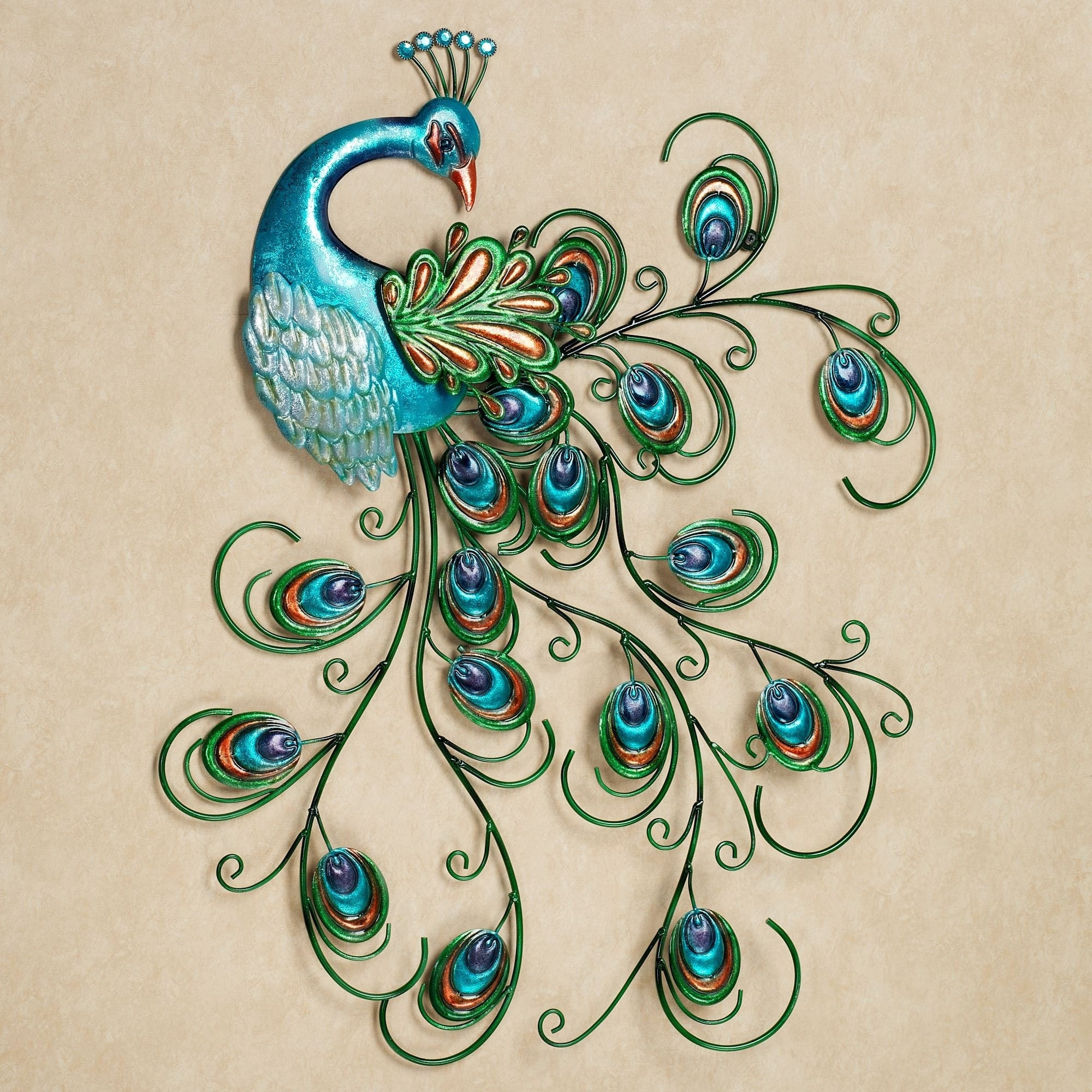 Lovely Peacock Wall Art Design Of Metal Peacock Wall Decor Of Metal With Regard To Peacock Wall Art (View 4 of 20)