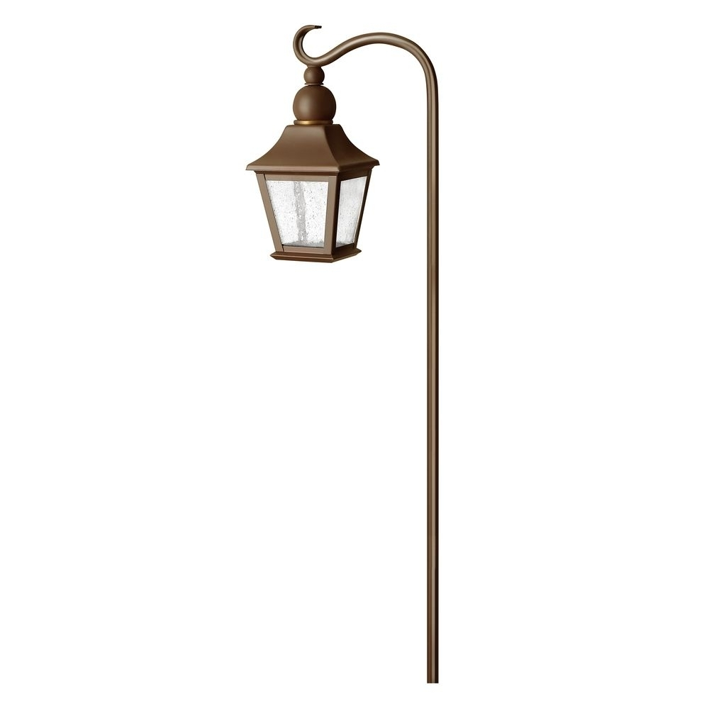 Low Voltage Seeded Glass Path Light Copper Bronze Hinkley Lighting inside Outdoor Low Voltage Lanterns (Image 16 of 20)