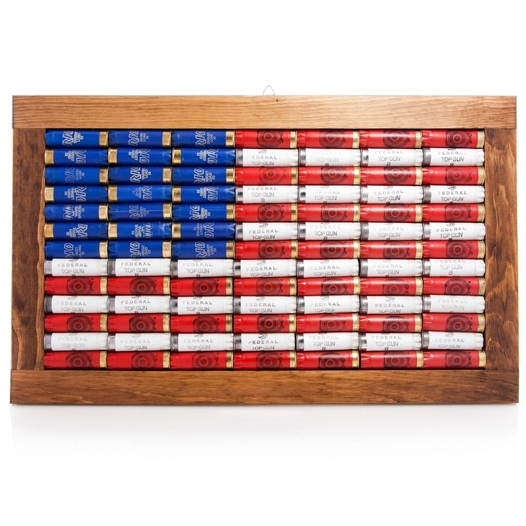 Lucky Shot 12 Gauge American Flag Wall Art | Red Hill Cutlery for American Flag Wall Art (Image 12 of 20)