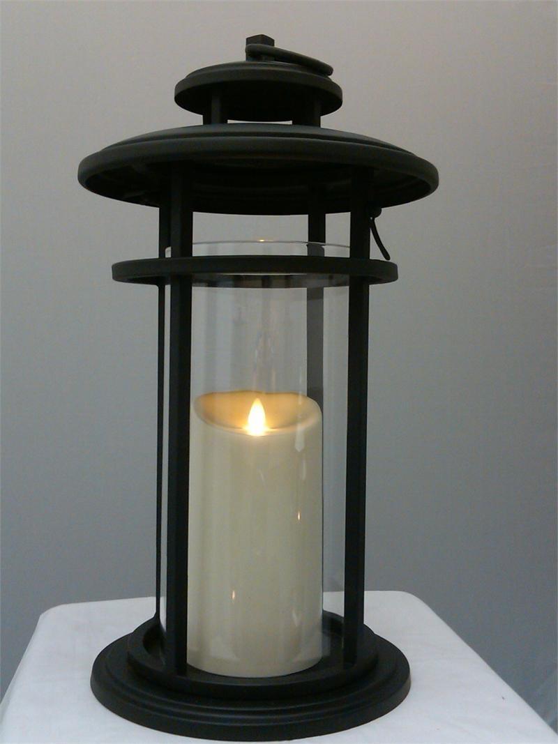 Luminara Flameless Candle Battery Powered Outdoor Black Cylinder with regard to Outdoor Luminara Lanterns (Image 11 of 20)