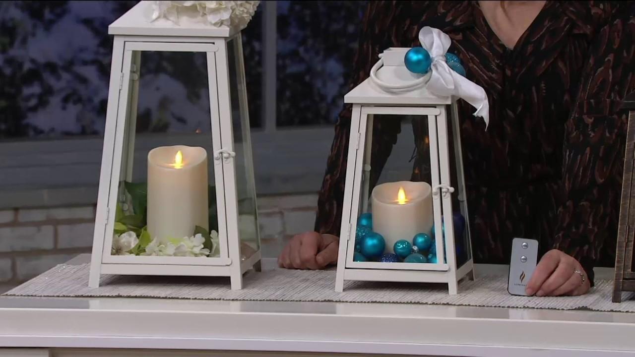 Luminara Hampton Indoor Outdoor Lantern With Flameless Candle in Outdoor Luminara Lanterns (Image 12 of 20)
