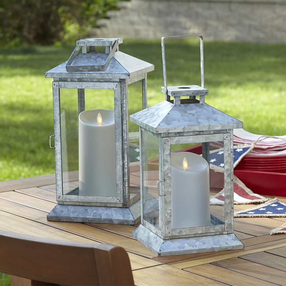 Luminara Outdoor Flameless Led Pillar Candles Waterproof Battery Throughout Outdoor Luminara Lanterns (View 16 of 20)