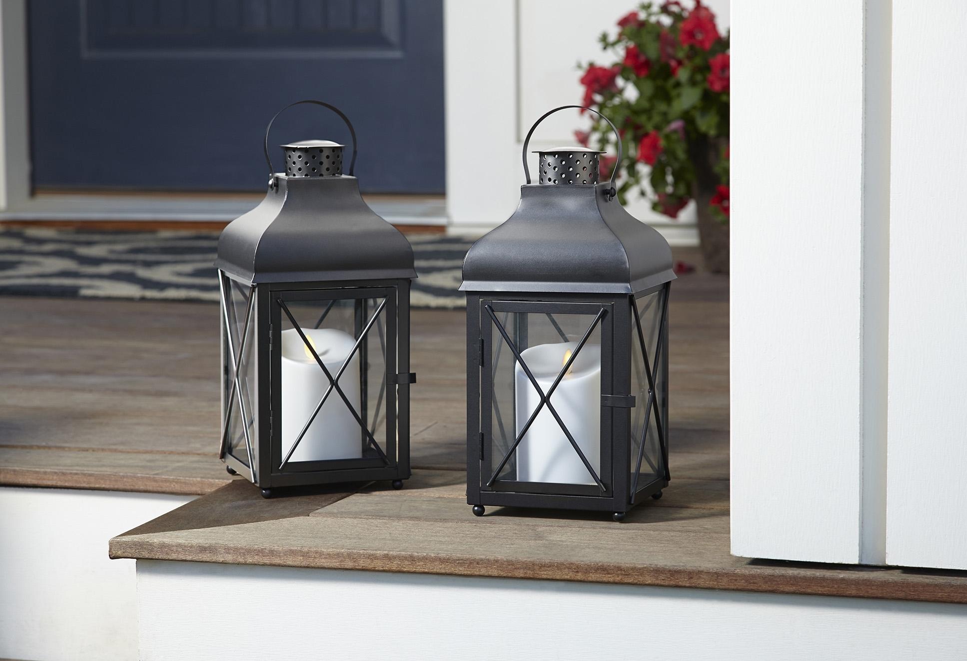 Luminara – Real Flame Effect Candles Inside Outdoor Luminara Lanterns (View 6 of 20)