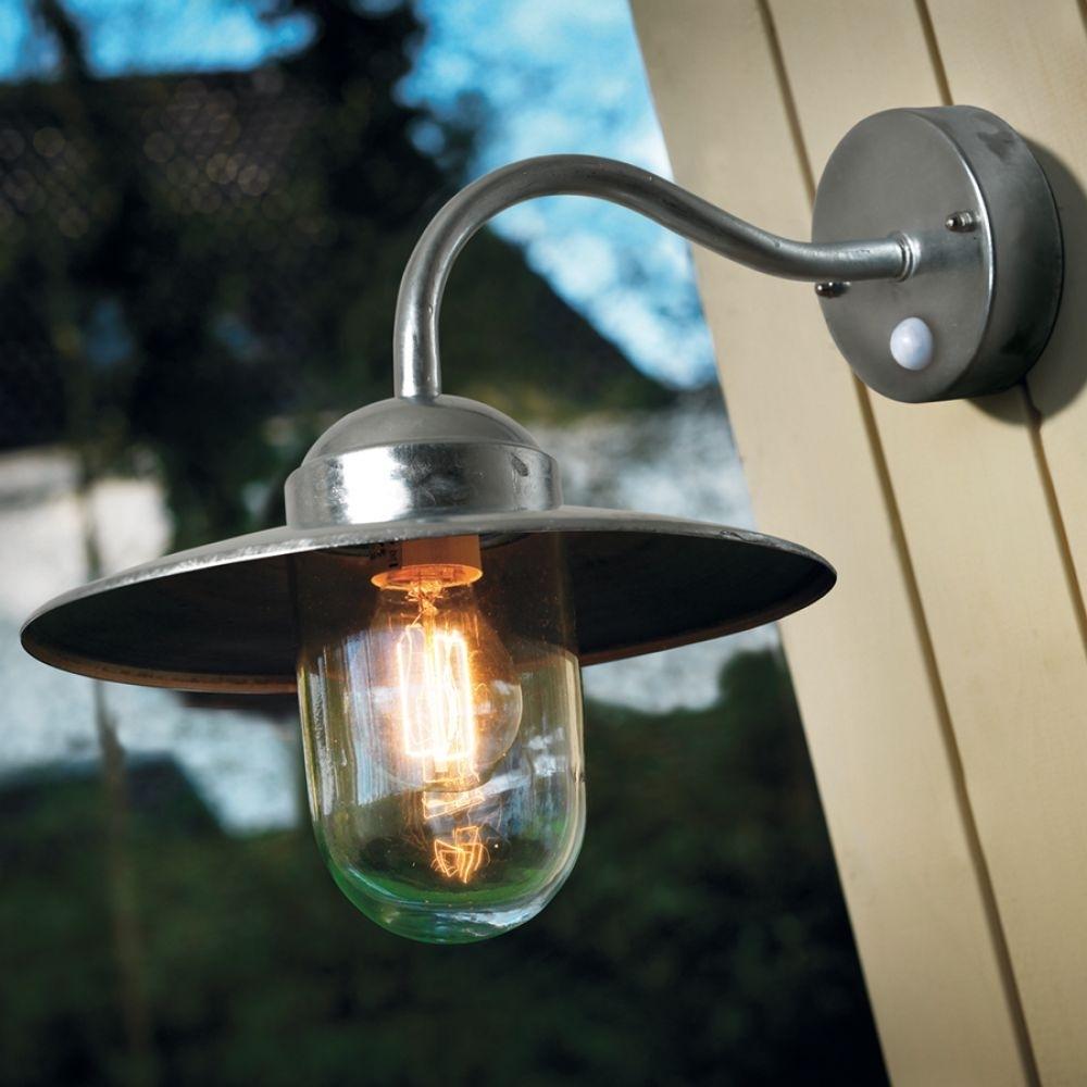 Luxembourg Outdoor Lantern (Nordlux, 22661031, Galvanized, Pir with regard to Outdoor Pir Lanterns (Image 10 of 20)
