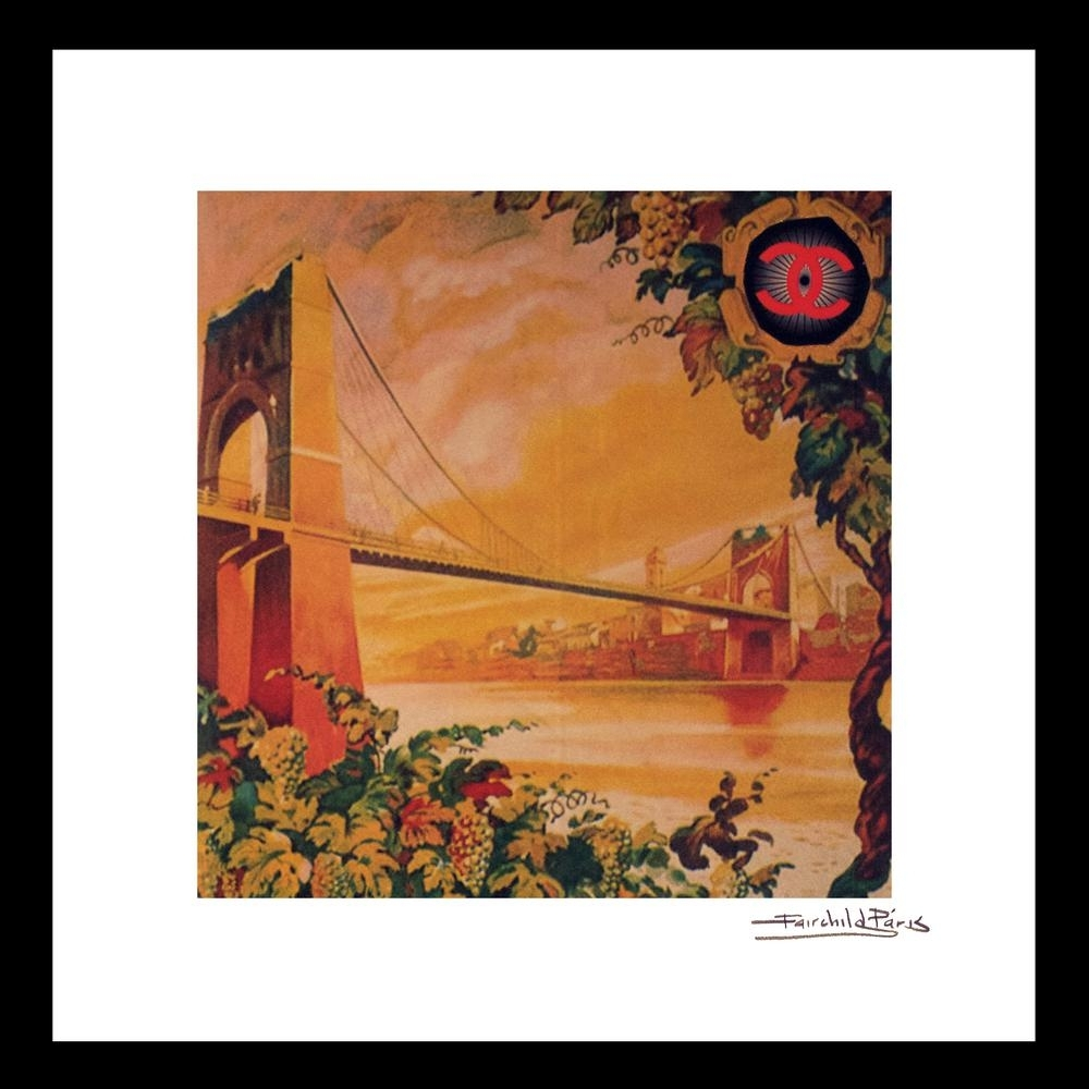 "Luxewest ""16 In X 16 In"" ""san Francisco"" Vintage Chanel Travel Ad throughout San Francisco Wall Art (Image 9 of 20)"