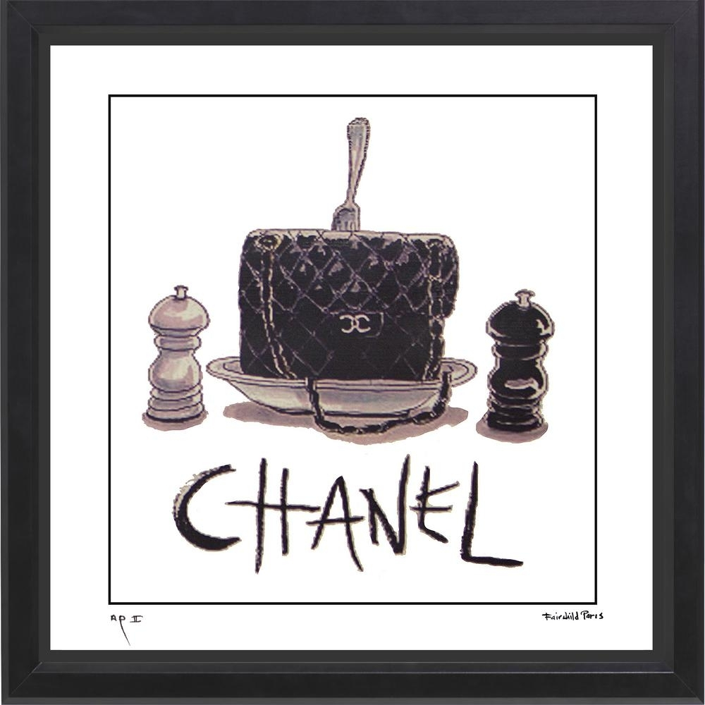 """Luxewest """"20 In X 20 In"""" """"2.55 For Dinner"""" Chanel Handbag Ad pertaining to Paris Wall Art (Image 11 of 20)"""