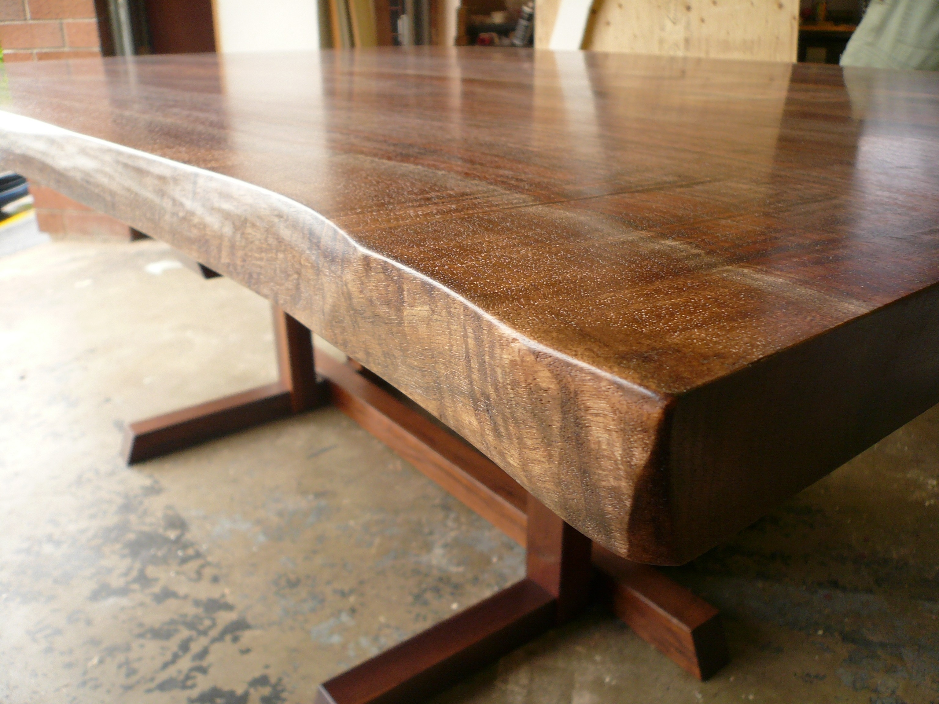 Luxury Live Edge Walnut Dining Table | New Way To Design Your Home In Live Edge Teak Coffee Tables (Photo 13 of 30)