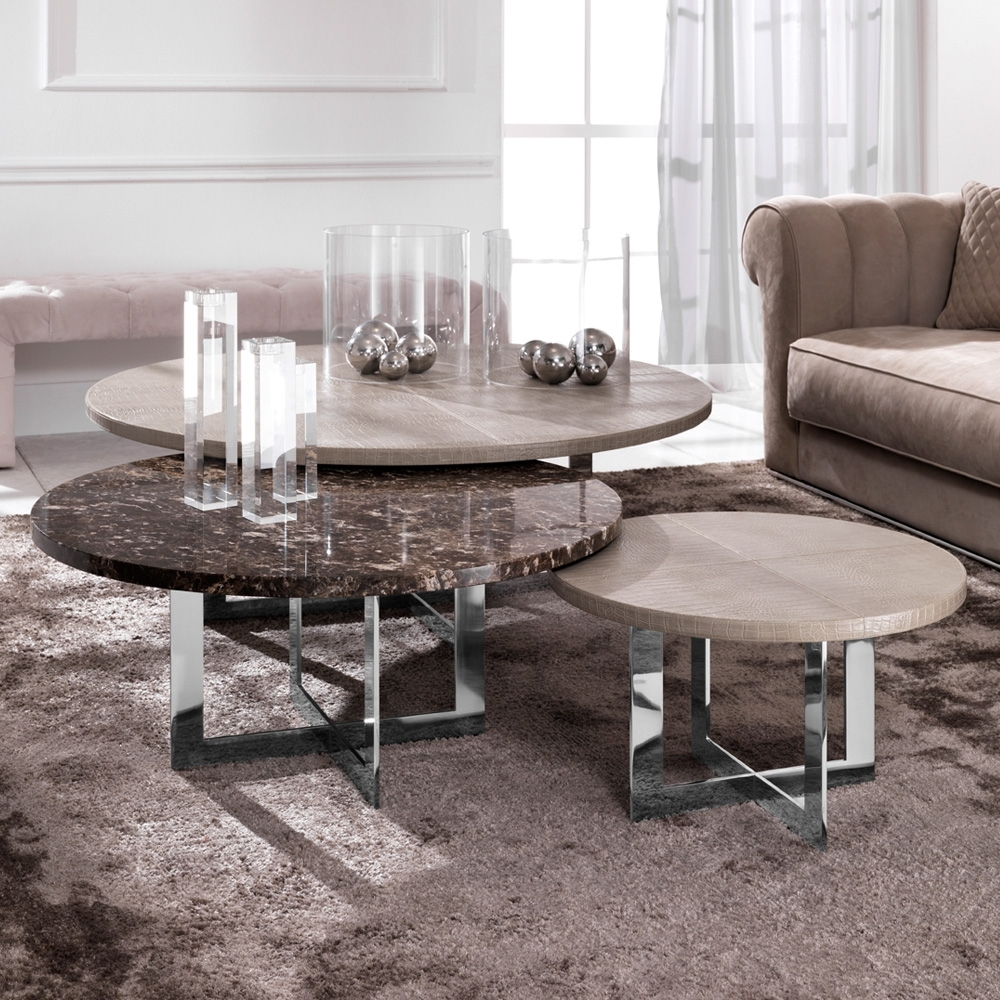 Luxury Nest Of Round Coffee Tables | Juliettes Interiors With Regard To Set Of Nesting Coffee Tables (View 16 of 30)