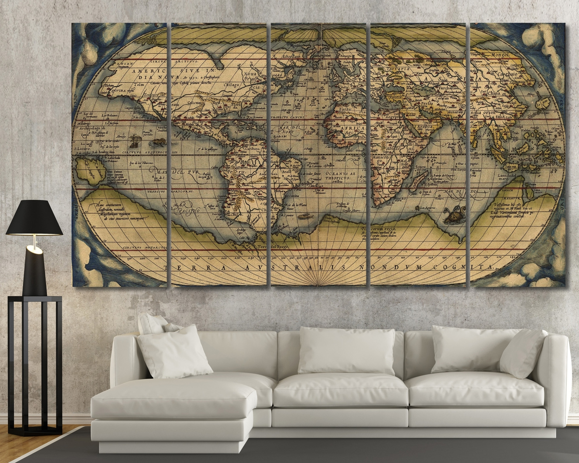 Luxury Wall Art Vintage - Home Design And Wall Decoration Ideas regarding Map Wall Art (Image 11 of 20)