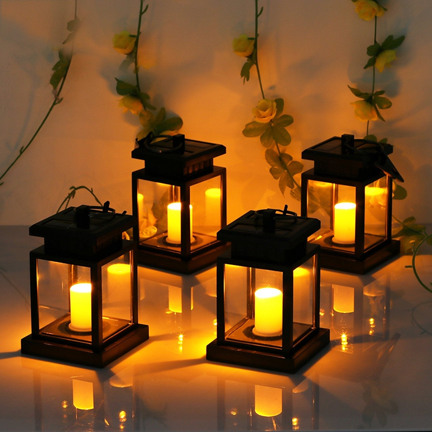 Lvjing Solar Lights Outdoor Hanging Lantern 4 Pack Led From Cute with regard to Outdoor Hanging Japanese Lanterns (Image 13 of 20)