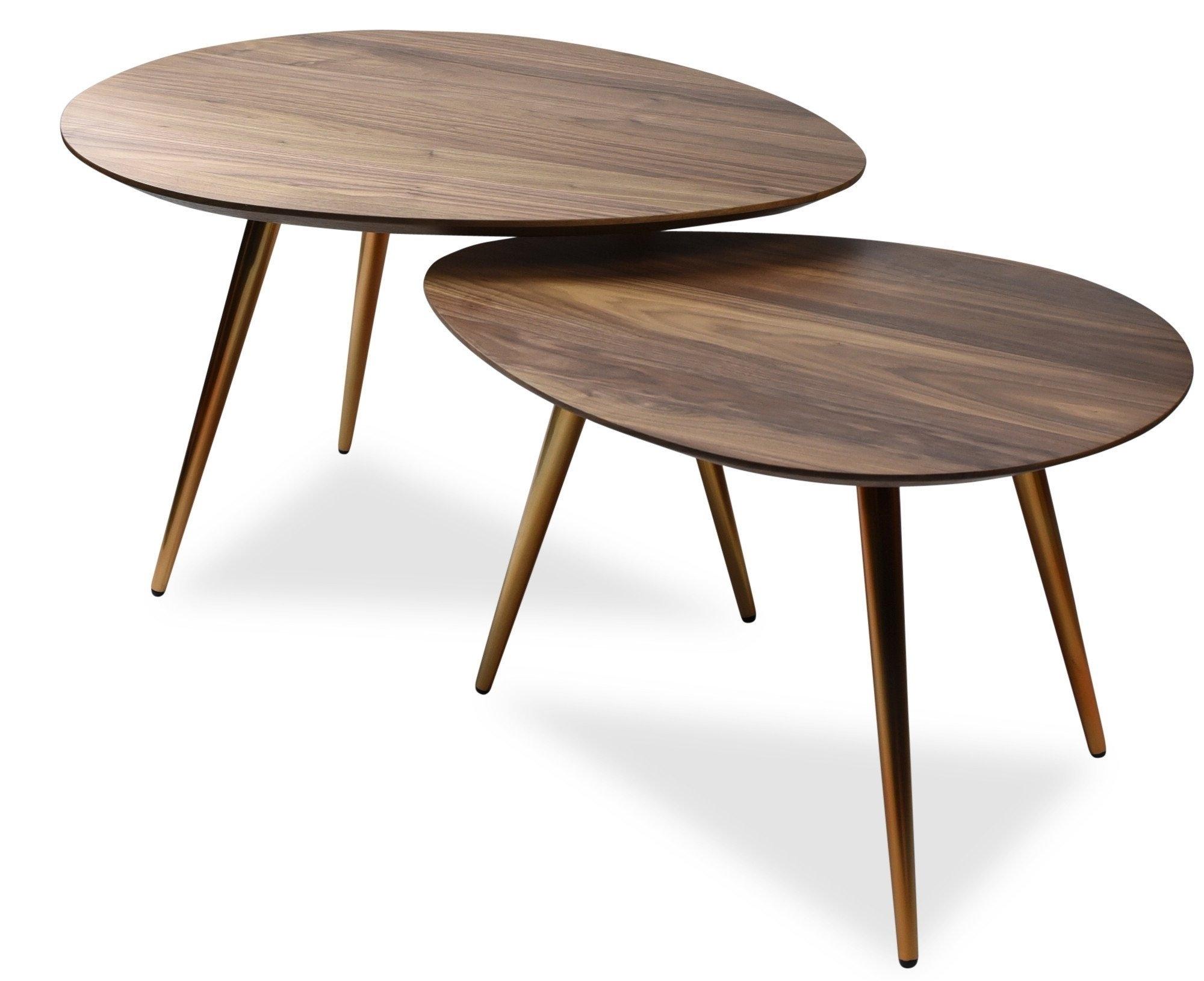 Maddox Mid-Century Modern Nesting Coffee Table Set with regard to Set of Nesting Coffee Tables (Image 17 of 30)