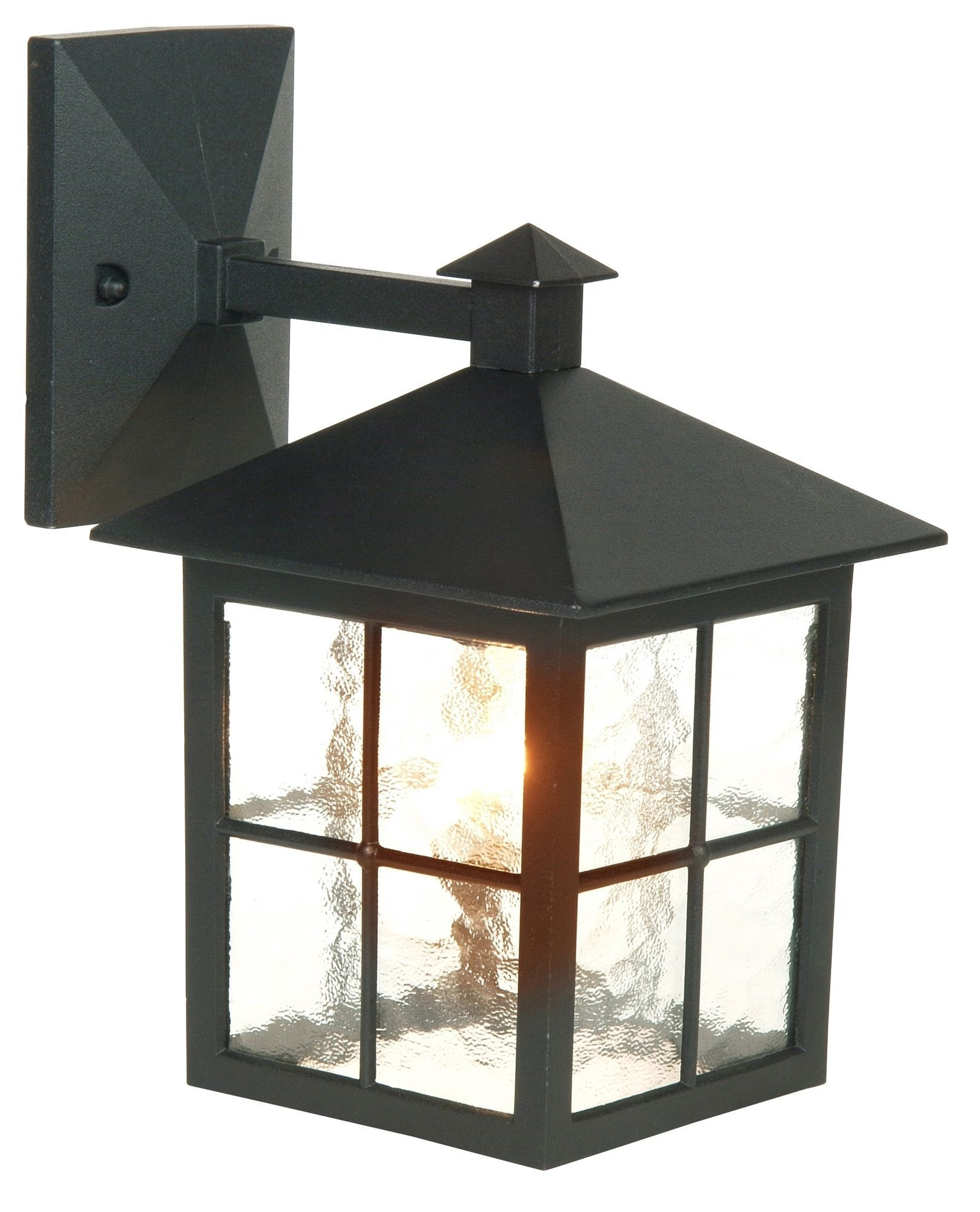 Maine Black Mains Powered External Wall Lantern | Window, Lights And with Outdoor Mains Lanterns (Image 9 of 20)