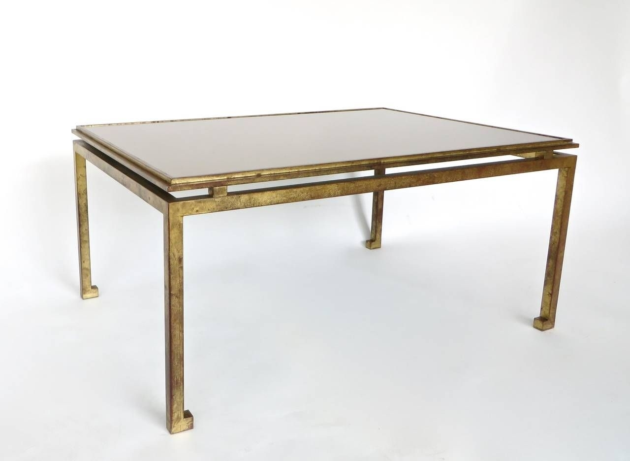 Maison Ramsay French Patina Gold Leaf Wrought Iron Coffee Table pertaining to Gold Leaf Collection Coffee Tables (Image 21 of 30)