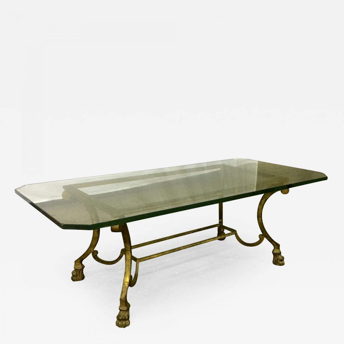 Maison Ramsay - Maison Ramsay Rarest Lion Legs Gold Leaf Wrought inside Gold Leaf Collection Coffee Tables (Image 20 of 30)