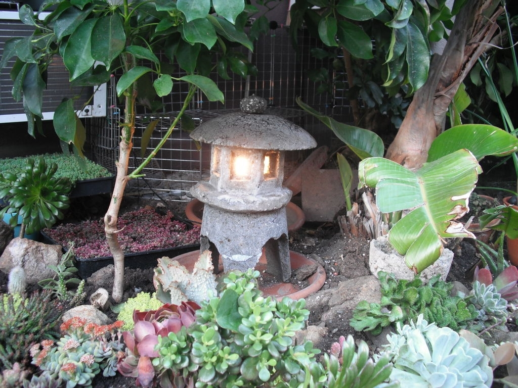 Make A Japanese Garden Lantern Out Of Hypertufa: 4 Steps (With Pictures) Throughout Outdoor Oriental Lanterns (View 11 of 20)