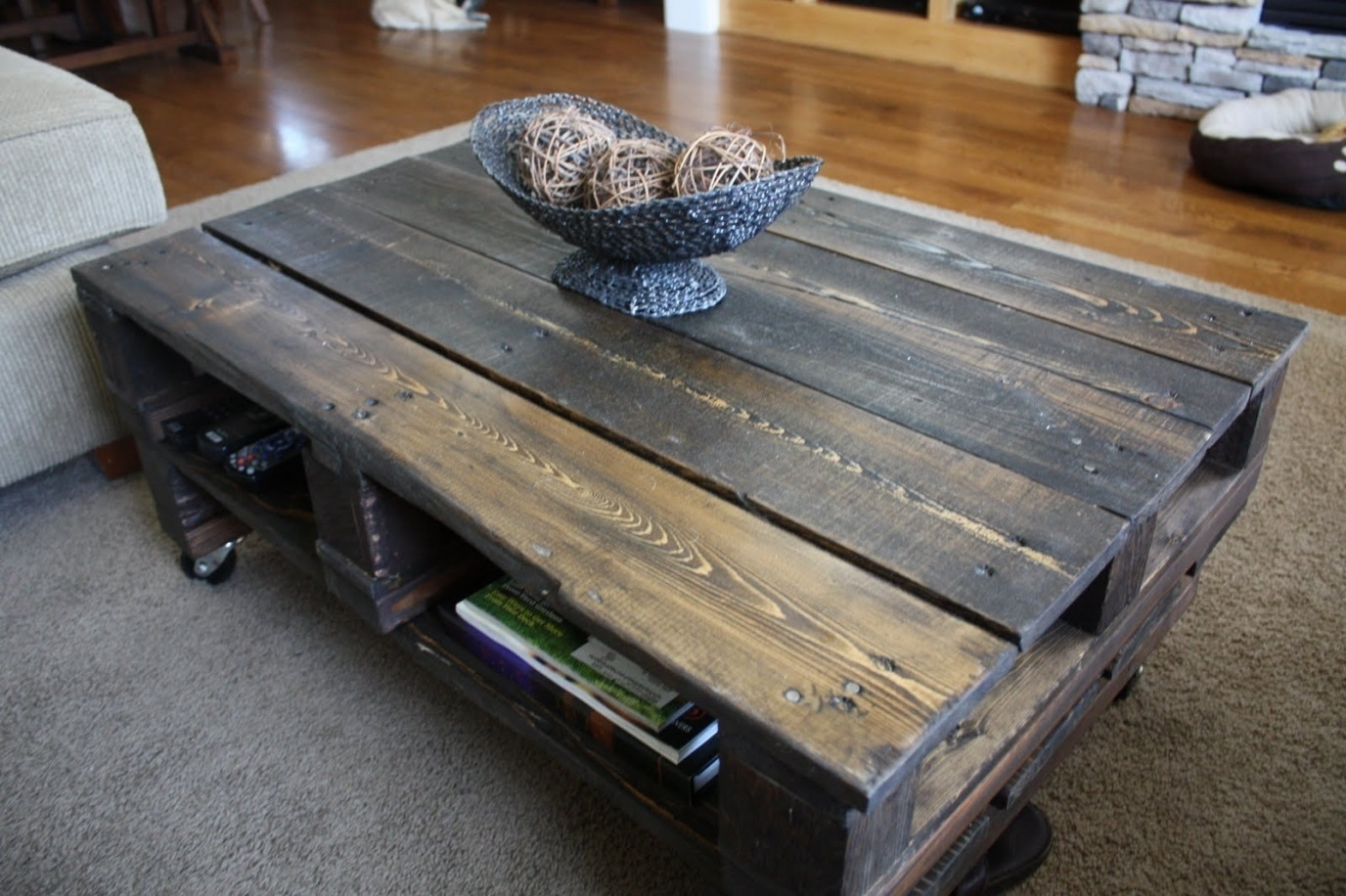 Make A Rustic Coffee Table With Wheels Within Rustic Coffee Tables Inside Modern Rustic Coffee Tables (View 14 of 30)