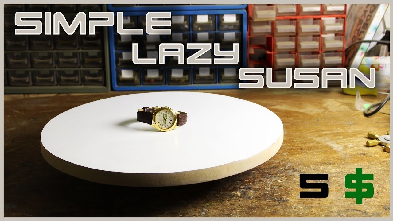 "Make A Simple Rotating Table ""lazy Susan"" - Youtube for Spin Rotating Coffee Tables (Image 13 of 30)"