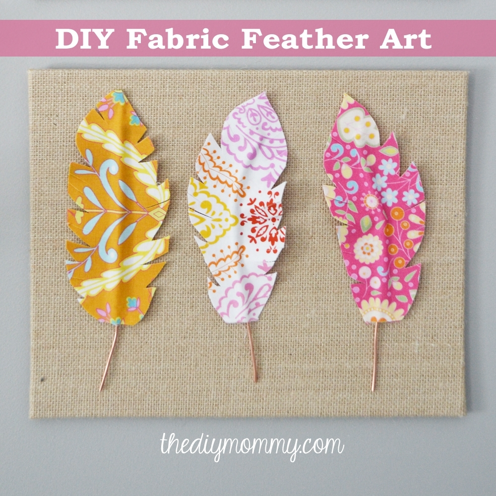 Make Fabric Feather Wall Art | The Diy Mommy intended for Fabric Wall Art (Image 18 of 20)
