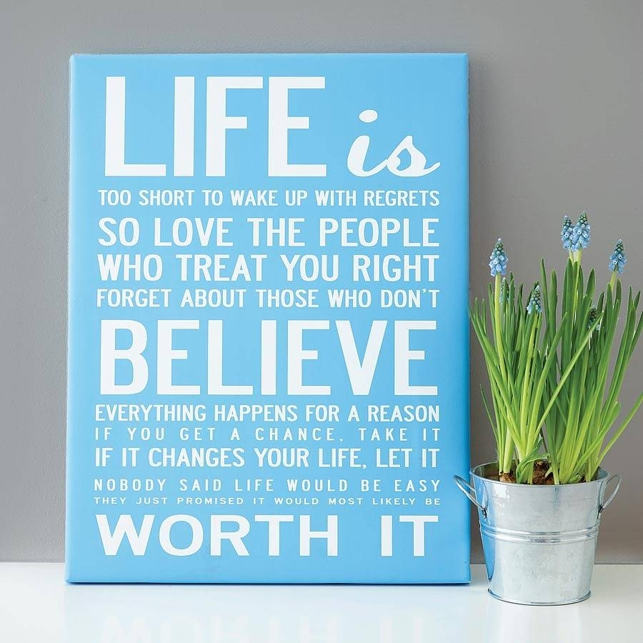 Make Your Own Quote Print - Makecanvasprints with Canvas Wall Art Quotes (Image 16 of 20)