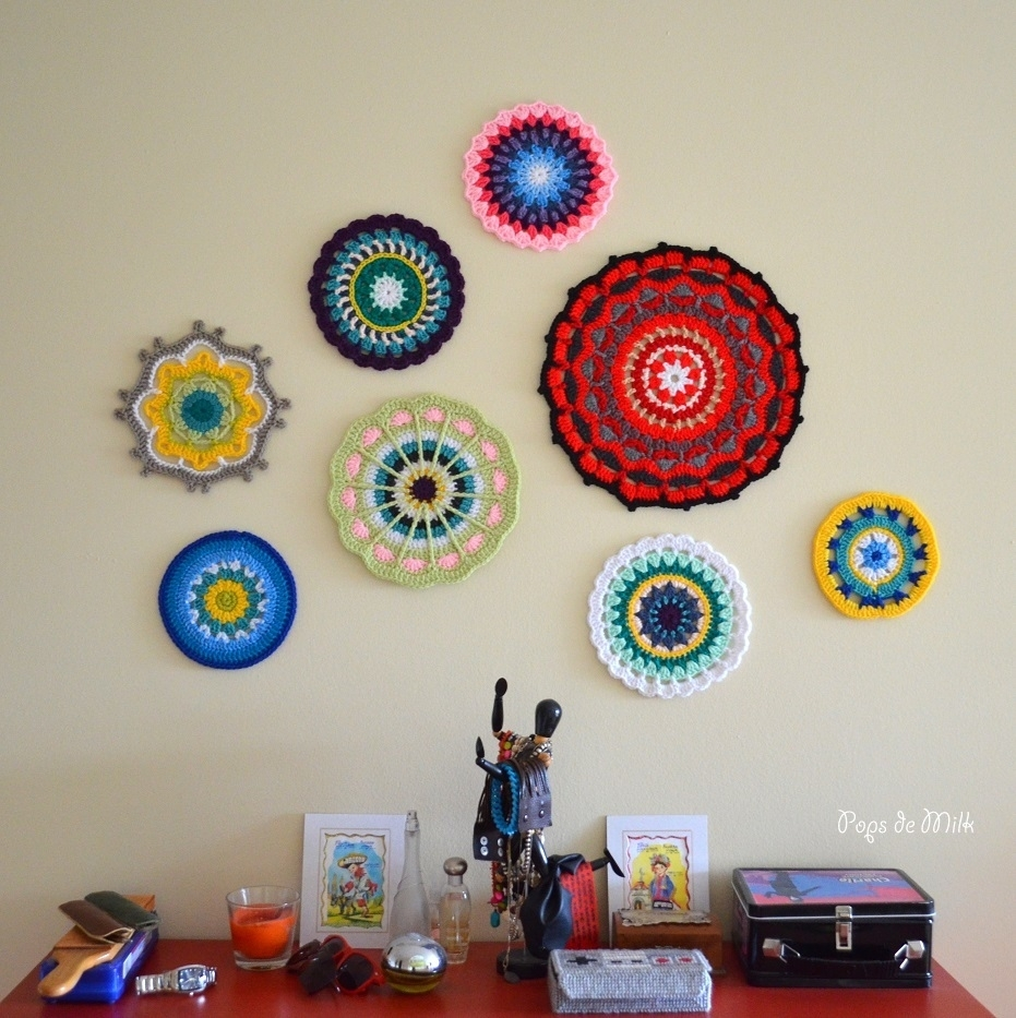 Mandala Wall Art - Still A Wip - Pops De Milk for Crochet Wall Art (Image 15 of 20)