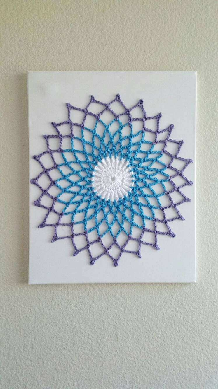 Mandala Wall Decor Best Of Wall Art Mandala Crochet Wall Hanging within Crochet Wall Art (Image 16 of 20)