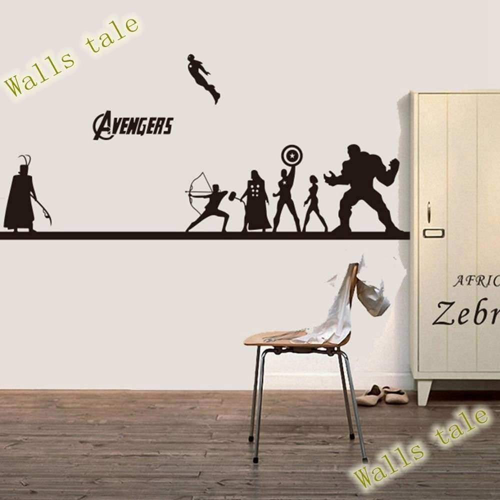 Manly Wall Art Inspirational Creative Diy The Avengers Wall Sticker pertaining to Manly Wall Art (Image 11 of 20)