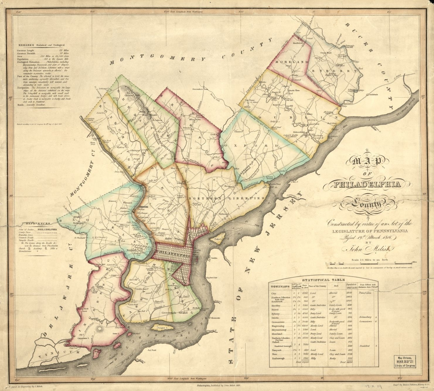 Maps And Mapmaking | Encyclopedia Of Greater Philadelphia With Philadelphia Map Wall Art (View 18 of 20)