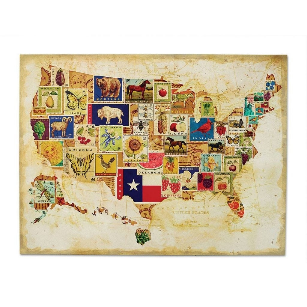 Maps. Us Map Wall Art - Collection Of Map Pictures regarding Usa Map Wall Art (Image 8 of 20)