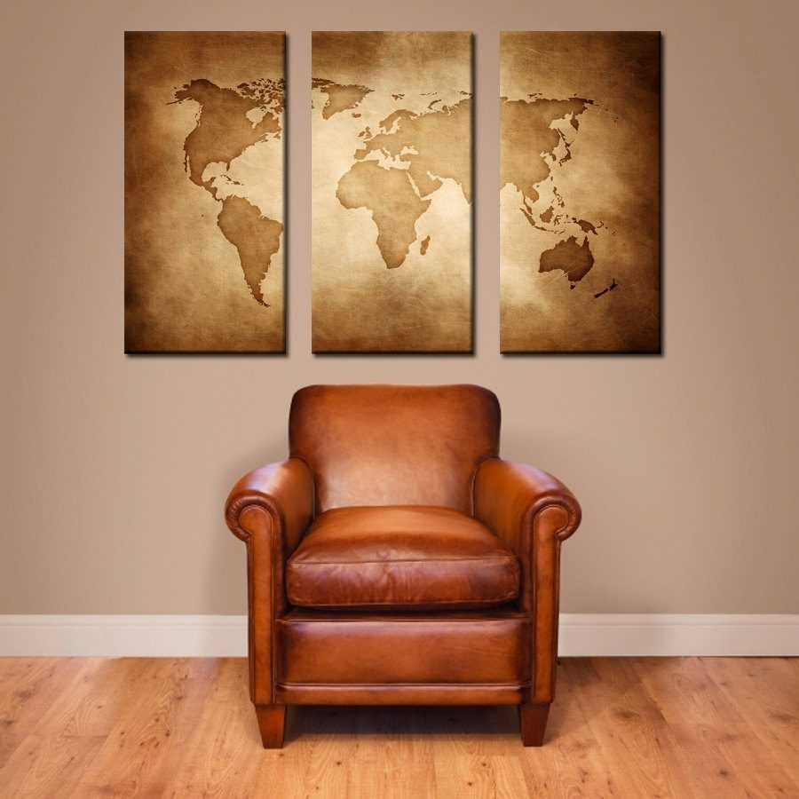 Maps Wall Decor Stencils. World Map Wall Art (View 9 of 20)