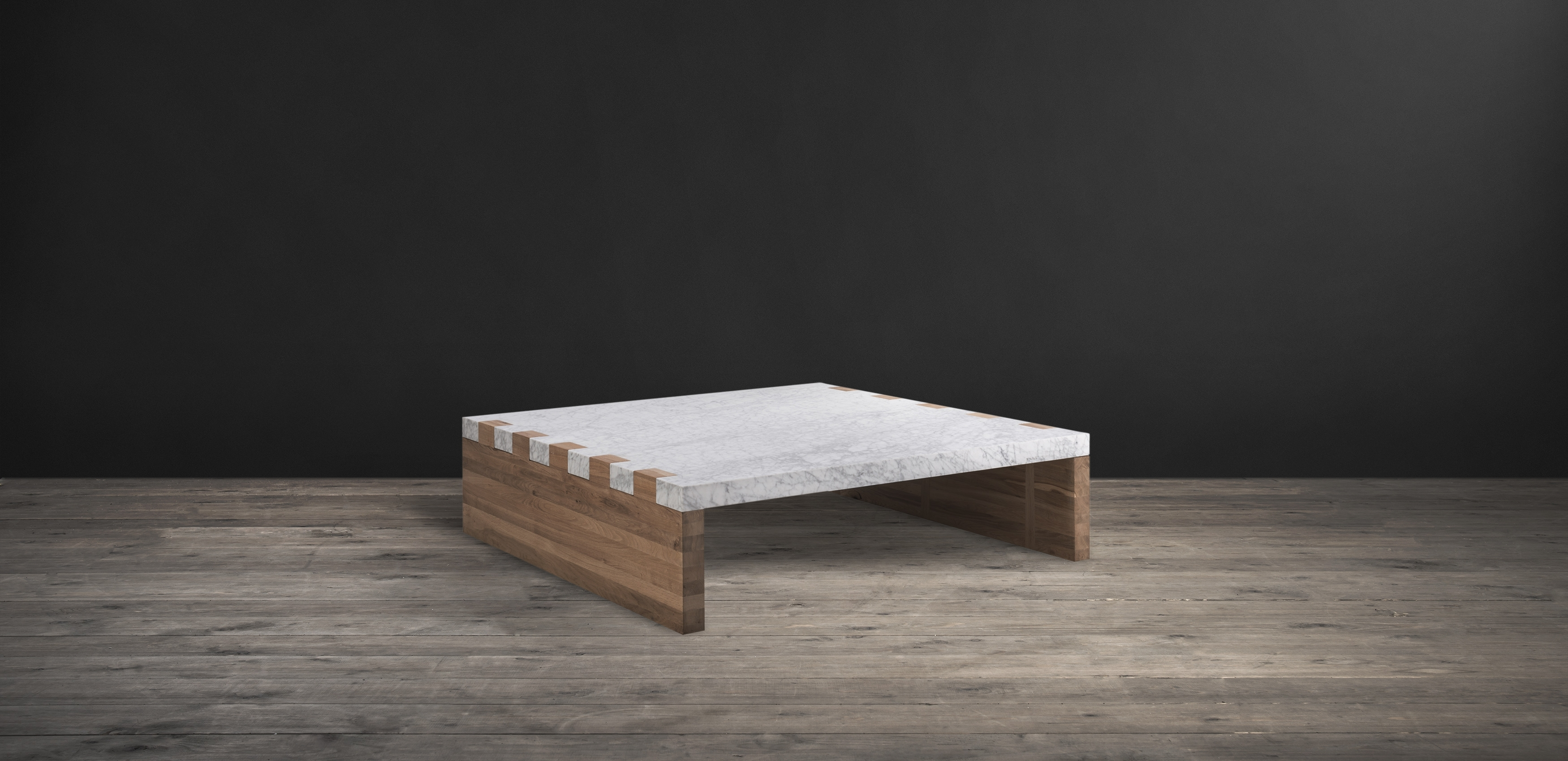 Marble And Wood Coffee Tables - Damabianca for Alcide Rectangular Marble Coffee Tables (Image 5 of 30)