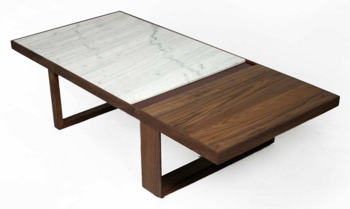 Marble And Wood Coffee Tables - Damabianca pertaining to Alcide Rectangular Marble Coffee Tables (Image 8 of 30)