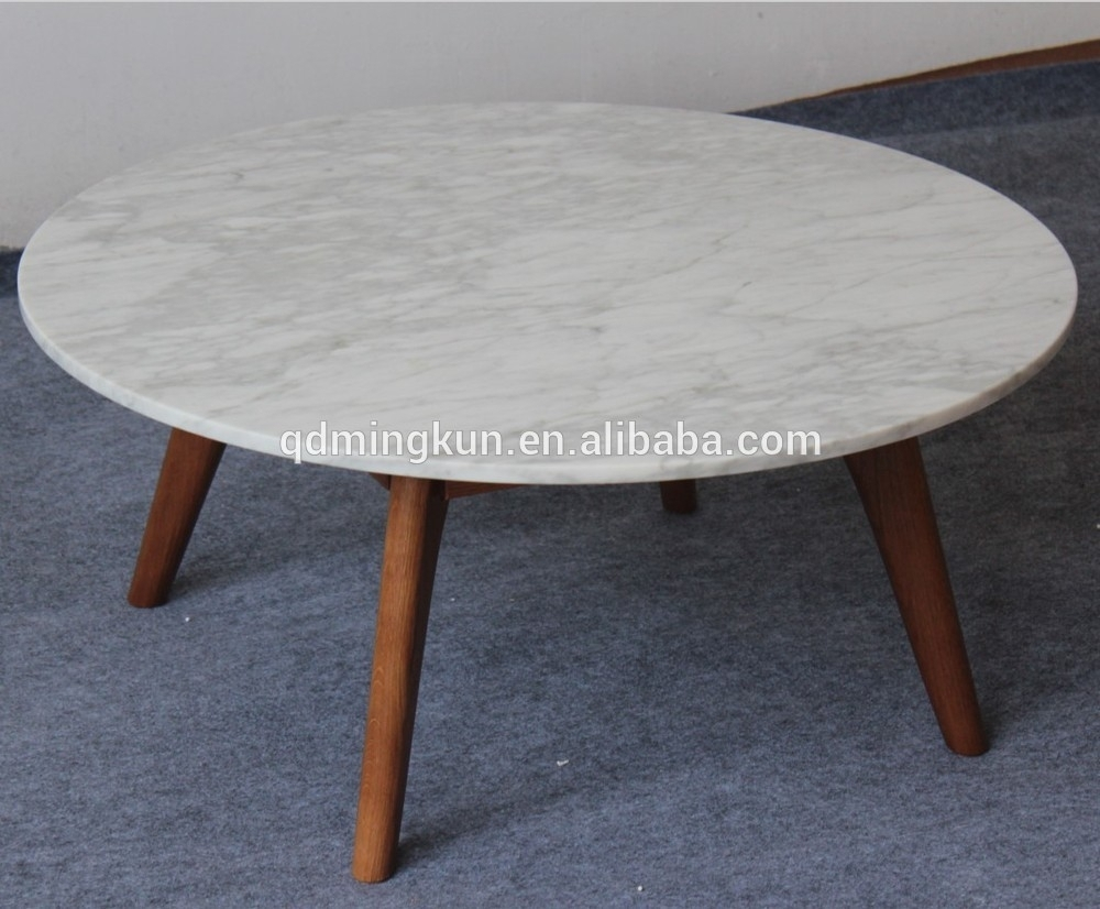 Marble And Wood Coffee Tables - Damabianca with Alcide Rectangular Marble Coffee Tables (Image 11 of 30)