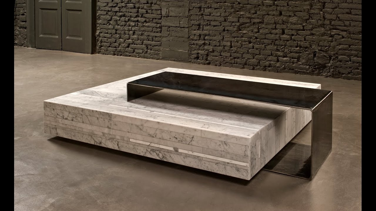 Marble And Wood Coffee Tables - Damabianca within Alcide Rectangular Marble Coffee Tables (Image 12 of 30)