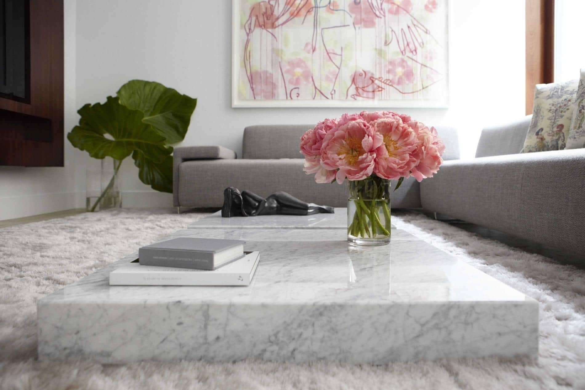 Marble Coffee Table Design, Style Ideas And Tips - Sefa Stone with regard to Large Slab Marble Coffee Tables With Antiqued Silver Base (Image 17 of 30)