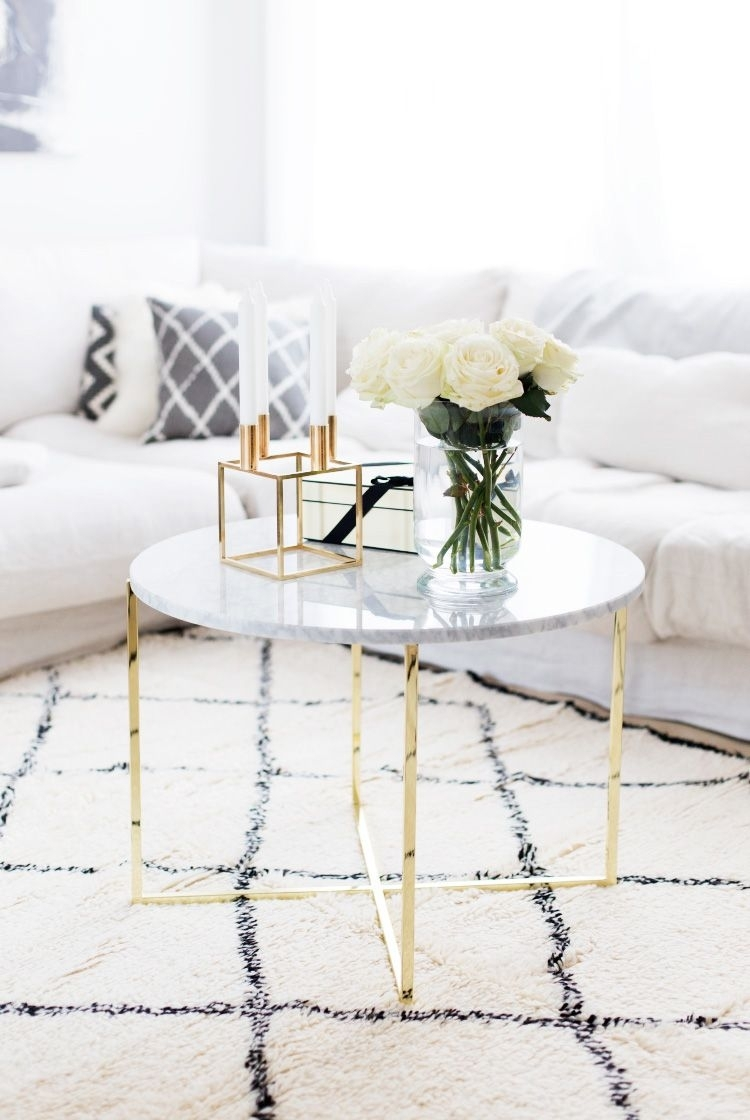 Marble Coffee Tables For Every Budget | Decorate | Pinterest for 2 Tone Grey and White Marble Coffee Tables (Image 19 of 30)