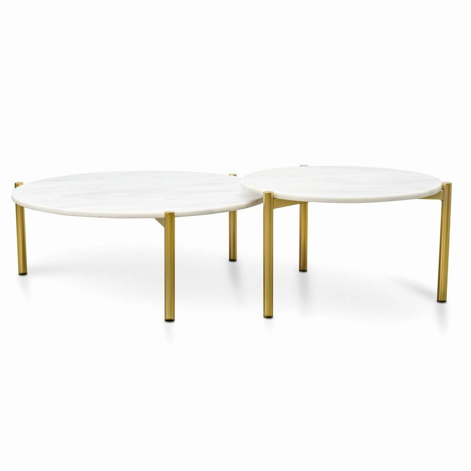 Marble Nest Of Tables Smart Round Marble Top Coffee Table Round intended for Smart Round Marble Top Coffee Tables (Image 21 of 30)