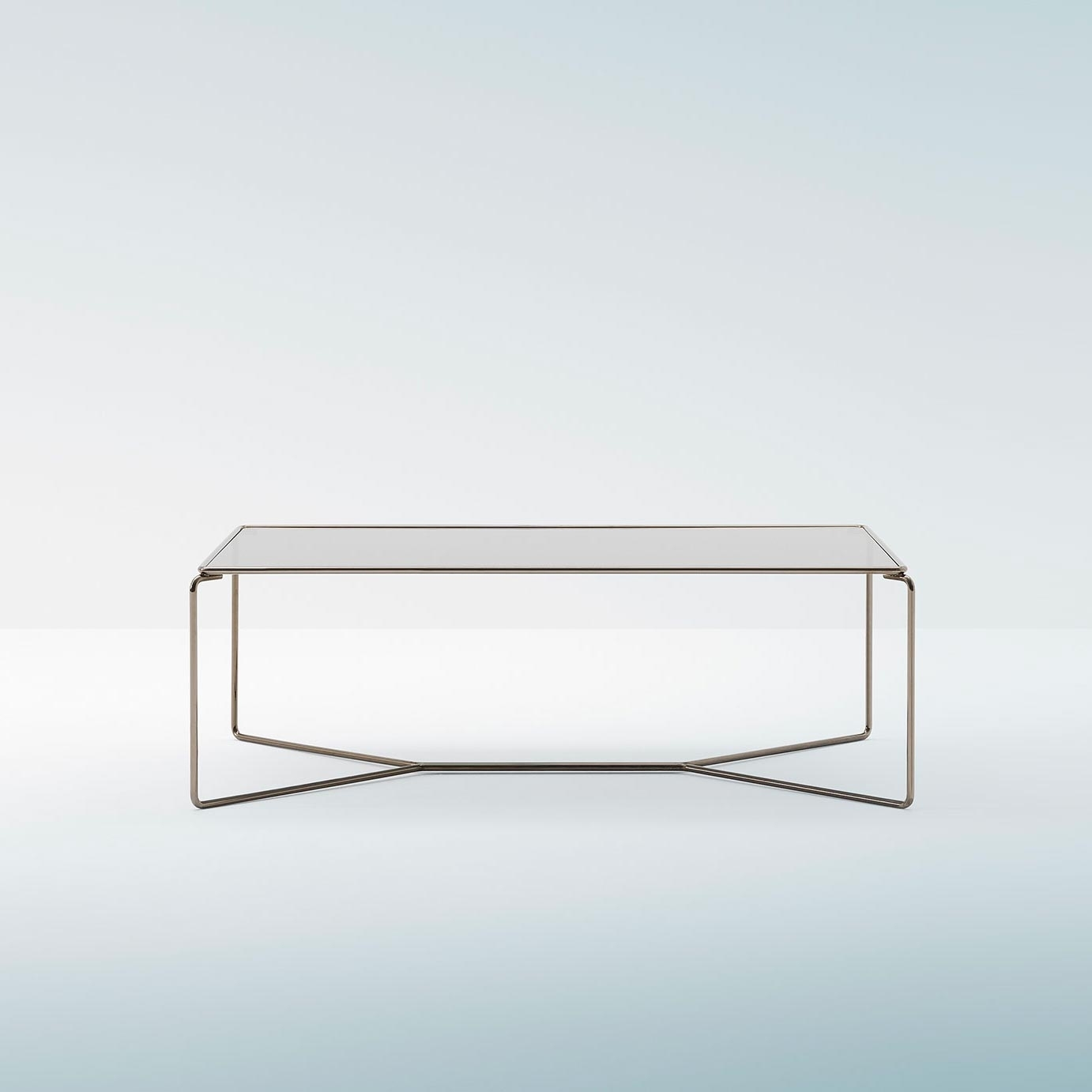 Marcel - Billiani in Rectangular Brass Finish and Glass Coffee Tables (Image 14 of 30)