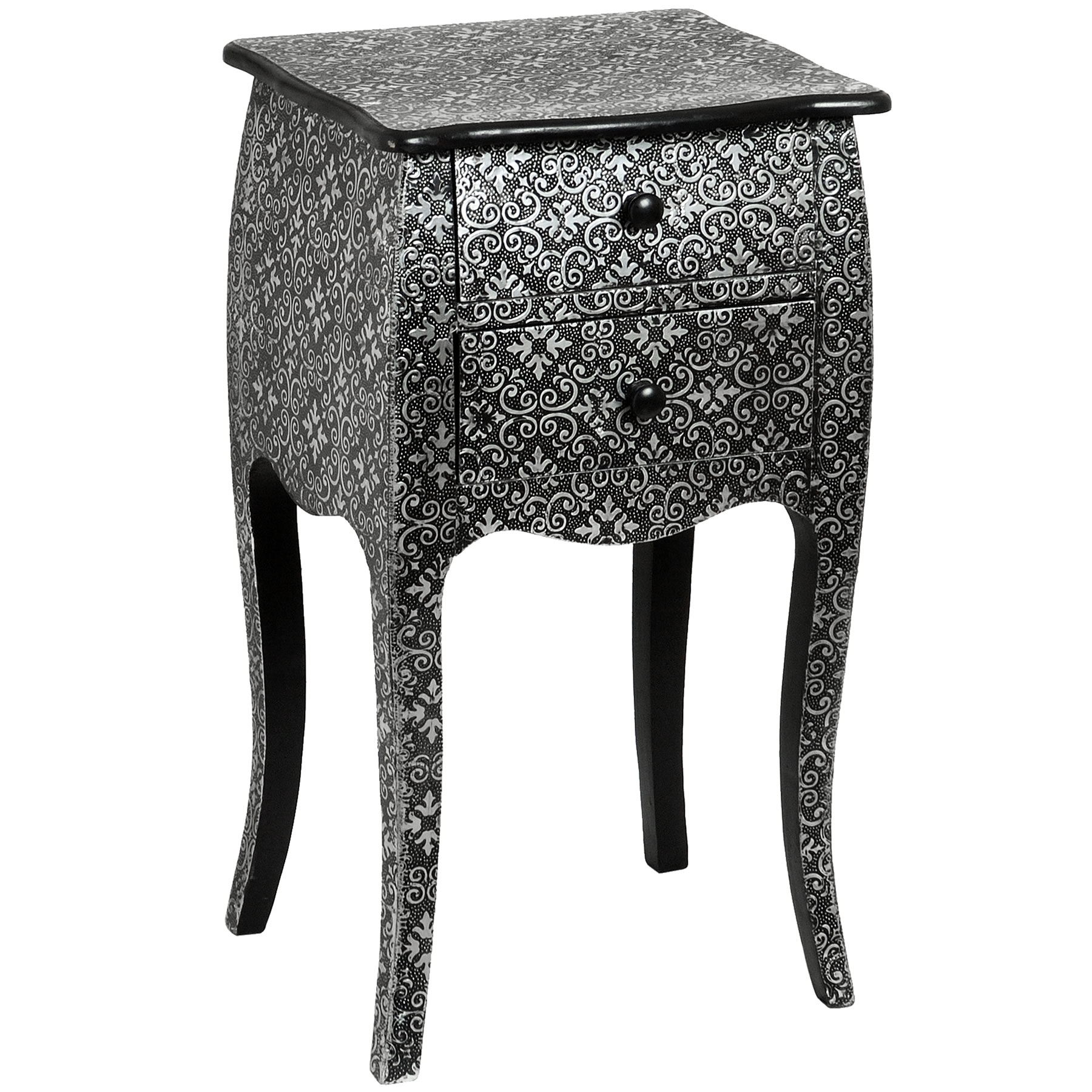 Marrakech Two Drawer Bedside Cabinet | From Baytree Interiors for Marrakesh Side Tables (Image 9 of 30)