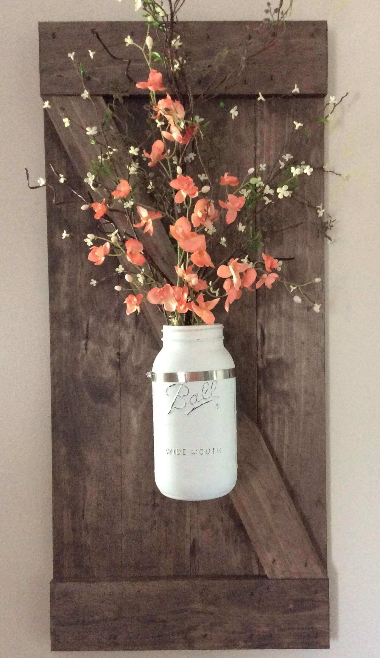 Mason Jar Wall Art New 24 Best Mason Jar Wall Decor Ideas And with regard to Mason Jar Wall Art (Image 12 of 20)