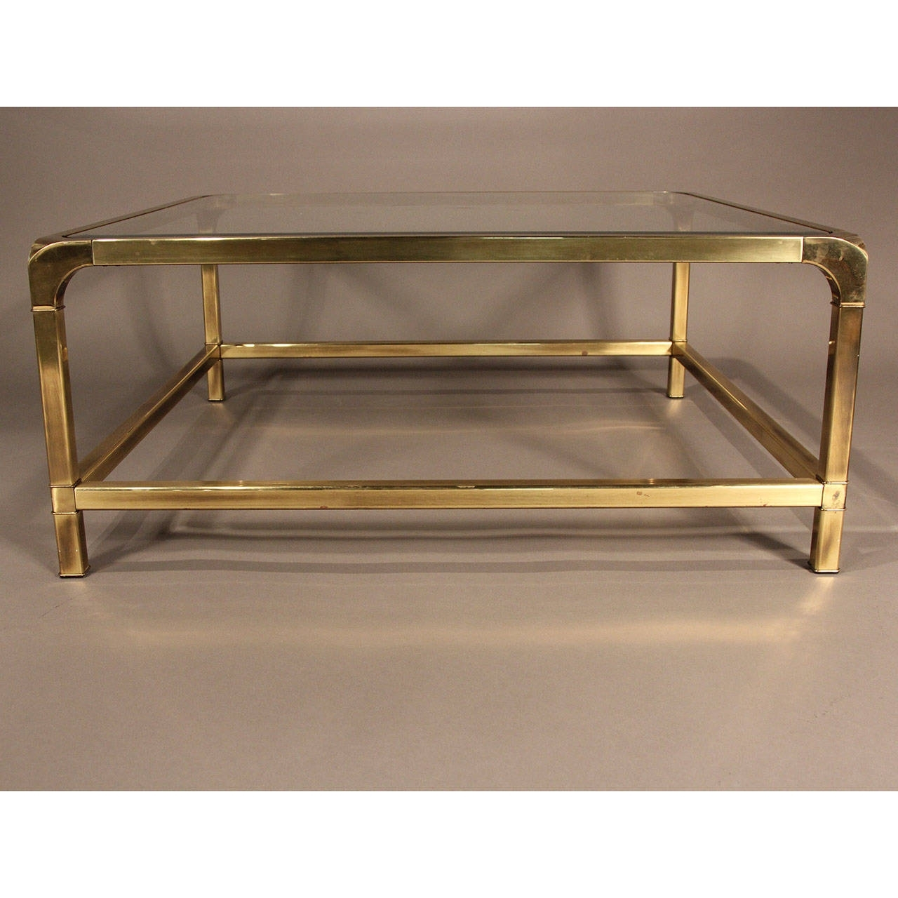 Mastercraft Brass And Glass Coffee Table At 1Stdibs within Rectangular Brass Finish and Glass Coffee Tables (Image 15 of 30)