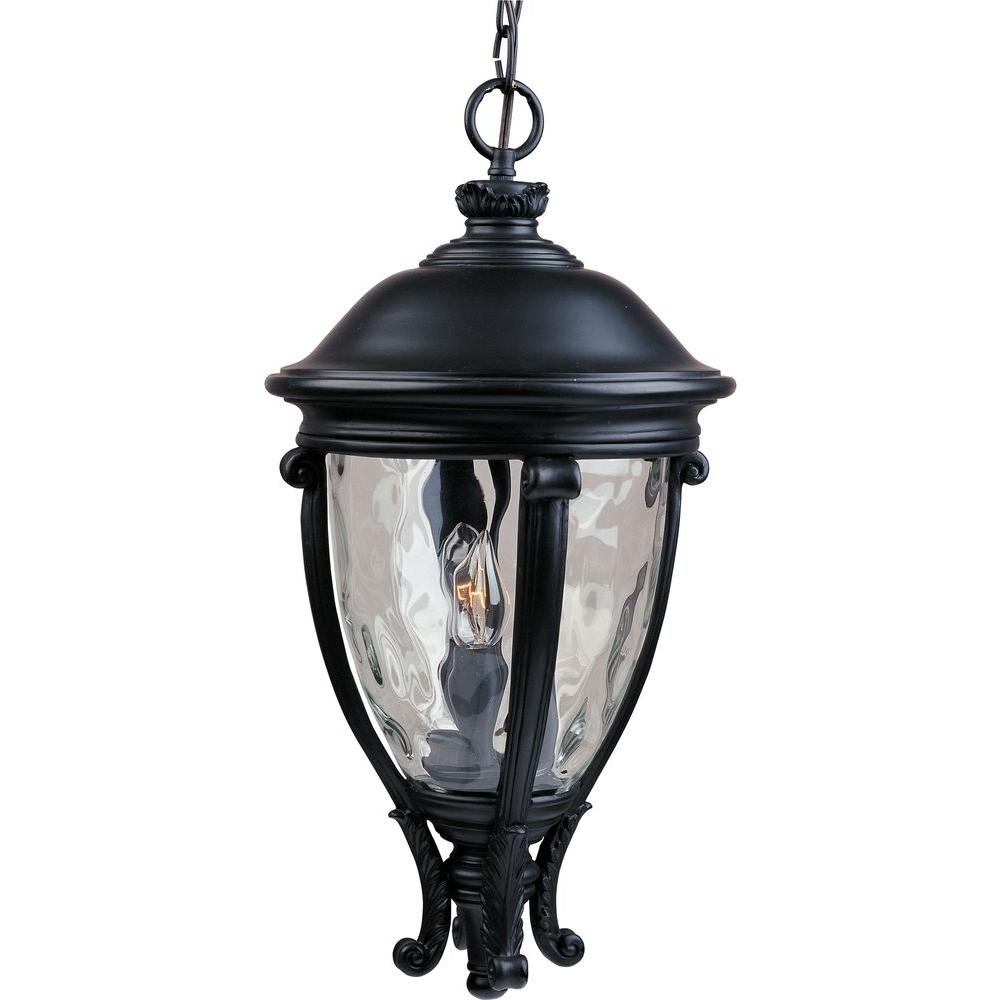 Maxim Lighting Camden Vx 3-Light Black Outdoor Hanging Lantern intended for Outdoor Hanging Electric Lanterns (Image 11 of 20)