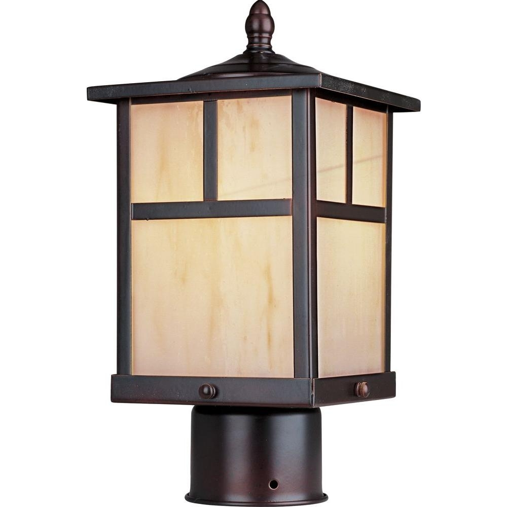 Maxim Lighting Coldwater Ee 1-Light Burnished Outdoor Pole/post with Outdoor Lanterns On Post (Image 12 of 20)