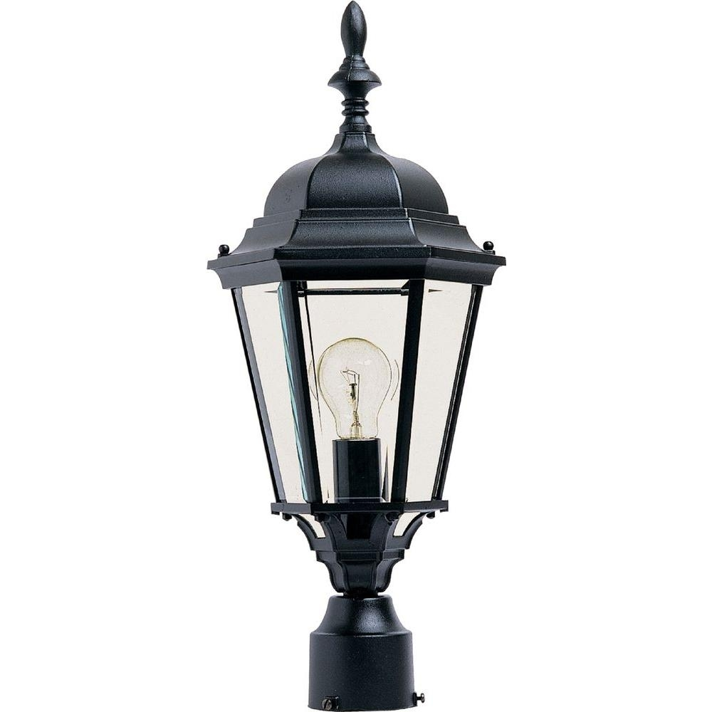 Maxim Lighting Westlake 1-Light Black Outdoor Pole/post Mount-1005Bk in Outdoor Pole Lanterns (Image 11 of 20)