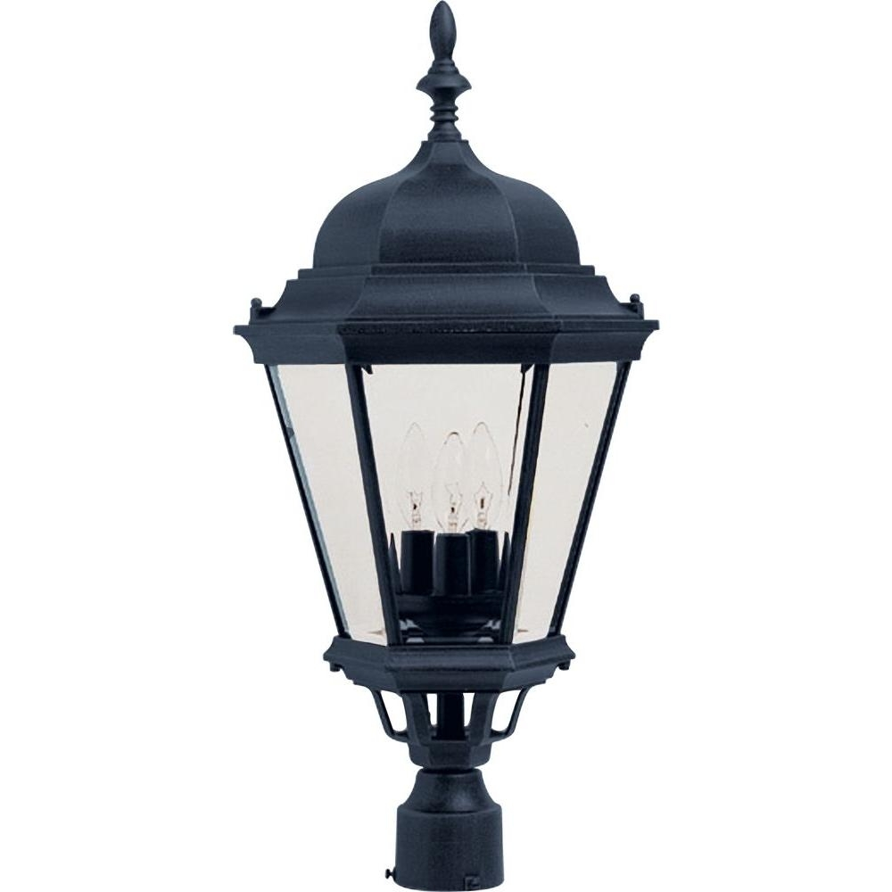 Maxim Lighting Westlake 3-Light Black Outdoor Pole/post Mount-1007Bk regarding Outdoor Pole Lanterns (Image 12 of 20)