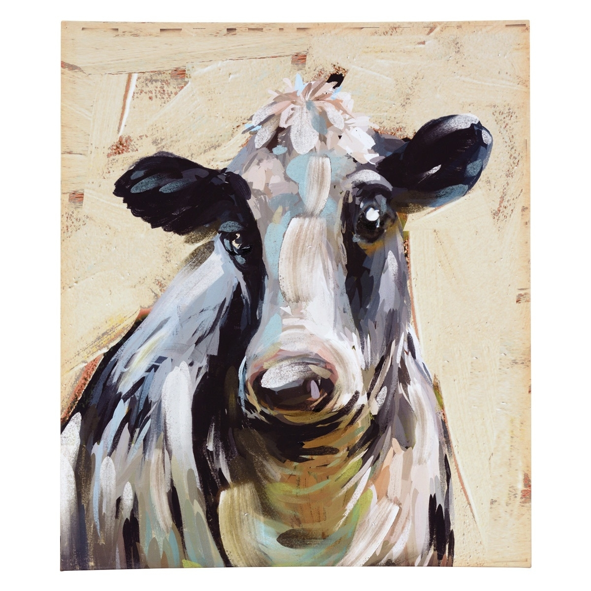 Meadow Cow Canvas Wall Art for Cow Canvas Wall Art (Image 16 of 20)
