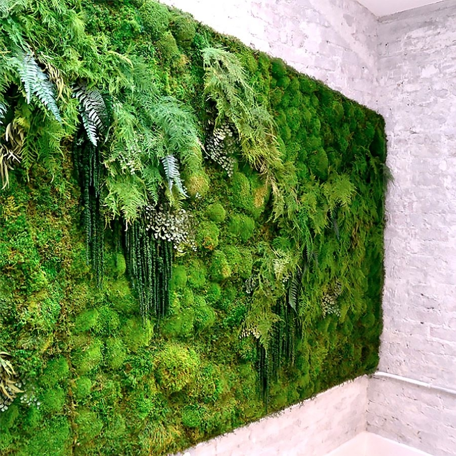 Meditation Yoga Studio Green Wallartisan Moss | For The Love Of for Moss Wall Art (Image 7 of 20)